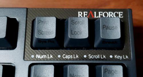 REALFORCE R2TLSA-JP4-BK ロゴ部分